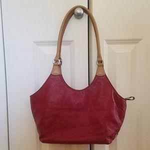 NINE WEST Bag. Red faux leather handbag.